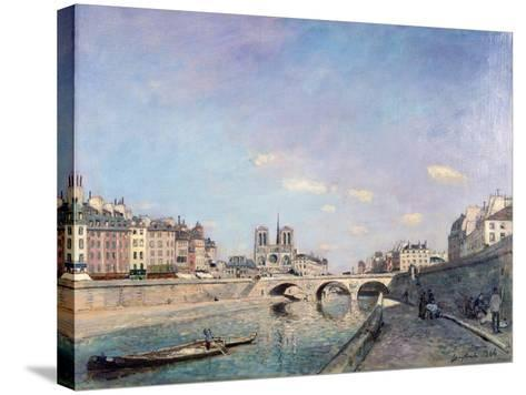 The Seine and Notre-Dame in Paris, 1864-Johan Barthold Jongkind-Stretched Canvas Print