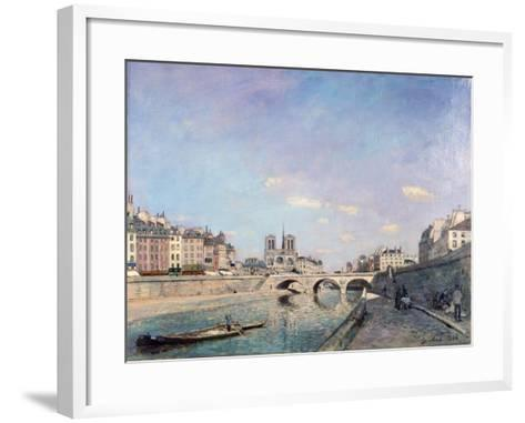 The Seine and Notre-Dame in Paris, 1864-Johan Barthold Jongkind-Framed Art Print