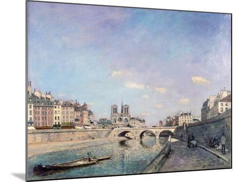 The Seine and Notre-Dame in Paris, 1864-Johan Barthold Jongkind-Mounted Giclee Print