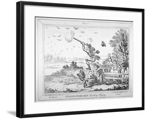 Cockney-Sportsmen Shooting Flying, 1800-James Gillray-Framed Art Print