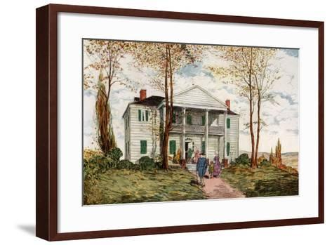 Morris-Jumel Mansion, Washington Heights, C18th Century-James Preston-Framed Art Print