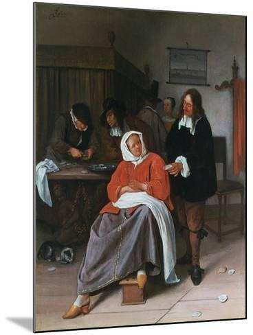 A Man Offering an Oyster to a Woman, C1660-1665-Jan Steen-Mounted Giclee Print