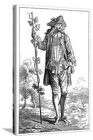 Peasant Costume-Jean-Antoine Watteau-Stretched Canvas Print
