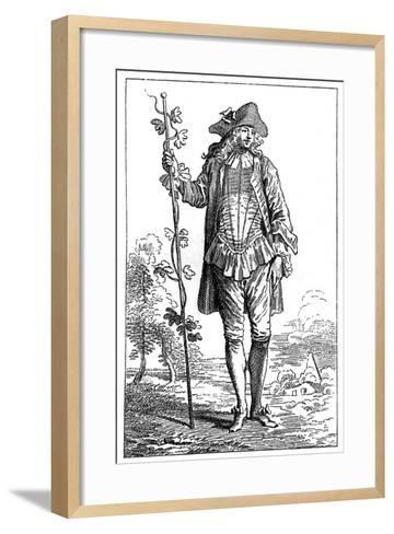 Peasant Costume-Jean-Antoine Watteau-Framed Art Print