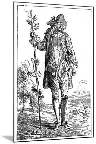 Peasant Costume-Jean-Antoine Watteau-Mounted Giclee Print