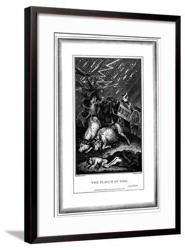 The Plague of Rain and Hail, One of the Seven Plagues of Egypt, C1759-C1789-James Caldwall-Framed Art Print