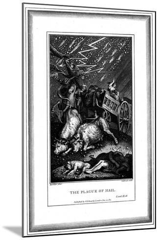 The Plague of Rain and Hail, One of the Seven Plagues of Egypt, C1759-C1789-James Caldwall-Mounted Giclee Print