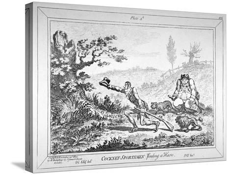 Cockney-Sportsmen Finding a Hare, 1800-James Gillray-Stretched Canvas Print