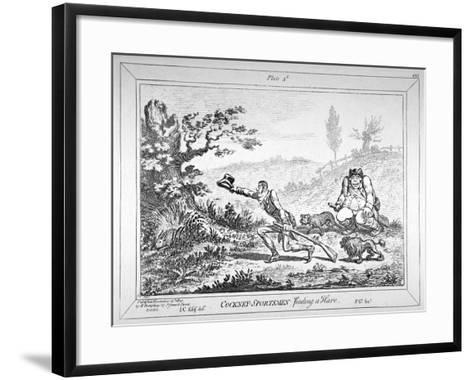Cockney-Sportsmen Finding a Hare, 1800-James Gillray-Framed Art Print