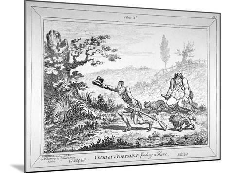 Cockney-Sportsmen Finding a Hare, 1800-James Gillray-Mounted Giclee Print