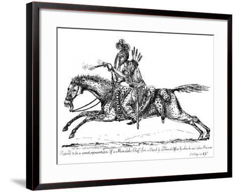 Mameluke Chief, 1798-James Gillray-Framed Art Print