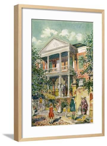 Pringle House, Charleston, South Carolina, USA, C18th Century-James Preston-Framed Art Print