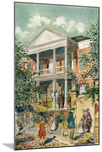Pringle House, Charleston, South Carolina, USA, C18th Century-James Preston-Mounted Giclee Print