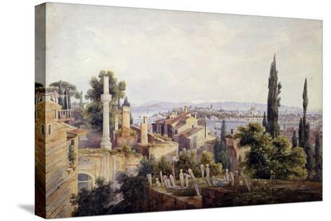 View of Constantinople and the Golden Horn, 1835-Johann Jakob Wolfensberger-Stretched Canvas Print
