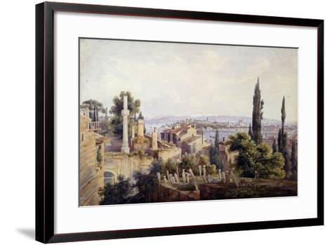 View of Constantinople and the Golden Horn, 1835-Johann Jakob Wolfensberger-Framed Art Print