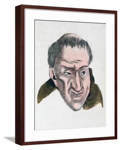 The Facial Characteristics of a Cheating, Deceptive Tempered Person, 1808-Johann Kaspar Lavater-Framed Art Print