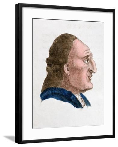 The Facial Characteristics of a Fiery, Passionate Tempered Person, 1808-Johann Kaspar Lavater-Framed Art Print