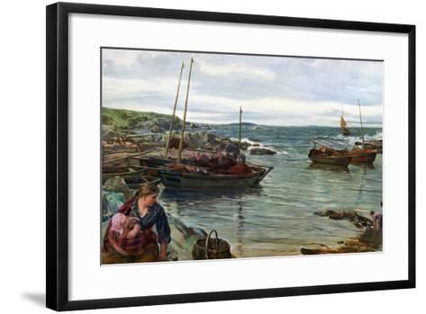 Home with the Tide, 1880-James Clarke Hook-Framed Art Print