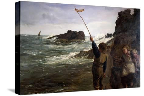 Caught by the Tide, 1869-James Clarke Hook-Stretched Canvas Print