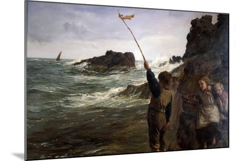 Caught by the Tide, 1869-James Clarke Hook-Mounted Giclee Print