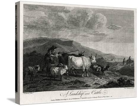 A Landskip and Cattle, 1774-James Roberts-Stretched Canvas Print