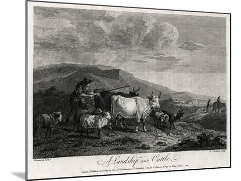 A Landskip and Cattle, 1774-James Roberts-Mounted Giclee Print