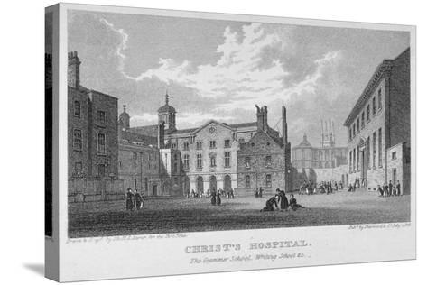 Christ's Hospital, City of London, 1823-James Sargant Storer-Stretched Canvas Print