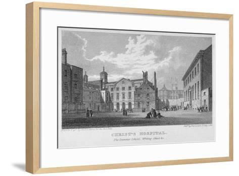 Christ's Hospital, City of London, 1823-James Sargant Storer-Framed Art Print