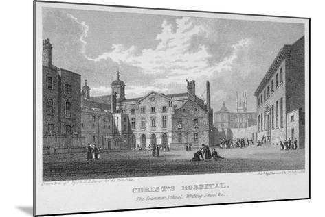 Christ's Hospital, City of London, 1823-James Sargant Storer-Mounted Giclee Print