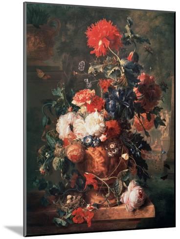 Flowers, 1722-Jan van Huysum-Mounted Giclee Print