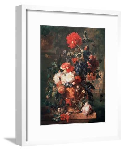Flowers, 1722-Jan van Huysum-Framed Art Print