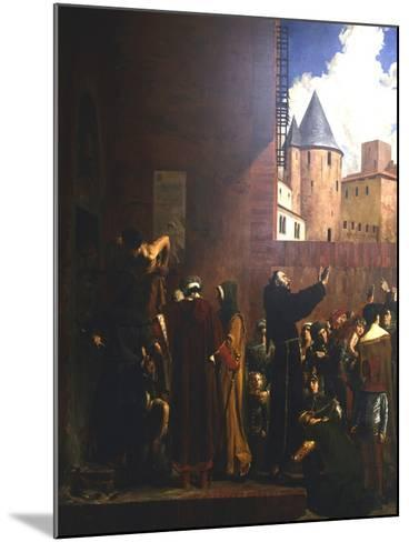 The Siege of Carcassonne, 1209 (C1858-192)-Jean-Paul Laurens-Mounted Giclee Print