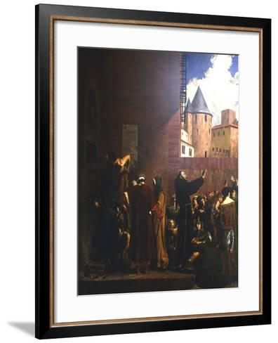 The Siege of Carcassonne, 1209 (C1858-192)-Jean-Paul Laurens-Framed Art Print