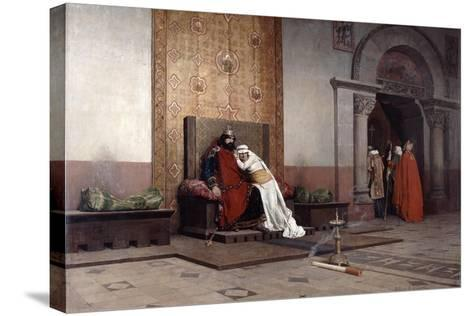 The Excommunication of Robert the Pious, 1875-Jean-Paul Laurens-Stretched Canvas Print