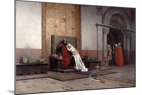 The Excommunication of Robert the Pious, 1875-Jean-Paul Laurens-Mounted Giclee Print