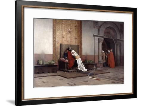 The Excommunication of Robert the Pious, 1875-Jean-Paul Laurens-Framed Art Print