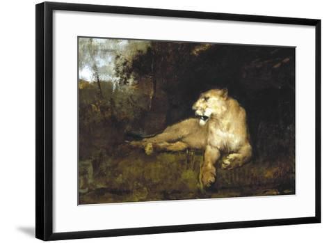 A Lioness, C1867-1910-John Macallan Swan-Framed Art Print
