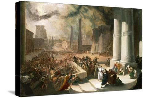 One of the Seven Plagues of Egypt, the Water of the Nile Turned Blood Red, Early 19th Century-John Martin-Stretched Canvas Print