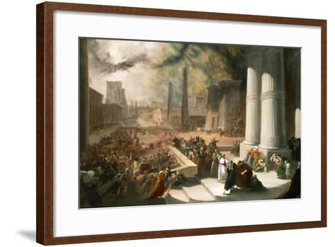 One of the Seven Plagues of Egypt, the Water of the Nile Turned Blood Red, Early 19th Century-John Martin-Framed Art Print