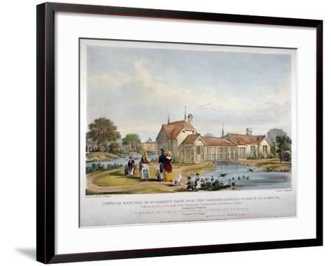 Cottage Erected in St James's Park for the Ornithological Society of London, Westminster, 1844-John Burges Watson-Framed Art Print