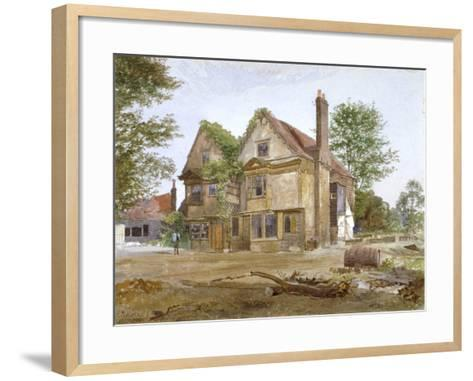 Front View of Basing Manor House, Peckham High Street, Camberwell, London, 1884-John Crowther-Framed Art Print