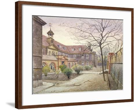 View of Grey Coat Hospital, Greycoat Place, Westminster, London, 1886-John Crowther-Framed Art Print