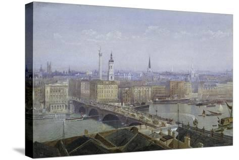 London Bridge and the City of London, 1892-John Crowther-Stretched Canvas Print