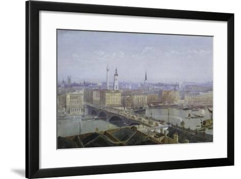 London Bridge and the City of London, 1892-John Crowther-Framed Art Print