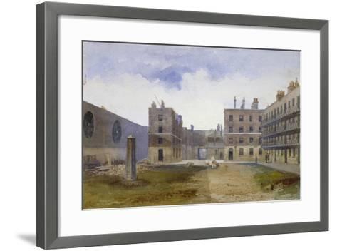 Queen's Bench Prison, Borough High Street, Southwark, London, 1879-John Crowther-Framed Art Print