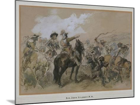Horsemen at the Time of Charles I, 1876-John Gilbert-Mounted Giclee Print