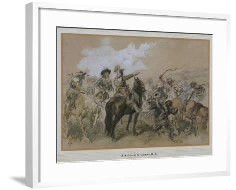 Horsemen at the Time of Charles I, 1876-John Gilbert-Framed Art Print