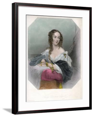 Lady Caroline Capel, C1800-1820-John Hayter-Framed Art Print