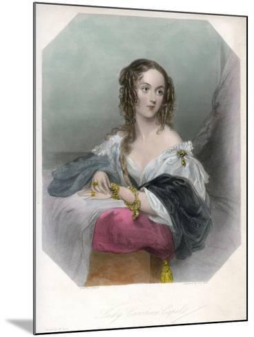 Lady Caroline Capel, C1800-1820-John Hayter-Mounted Giclee Print