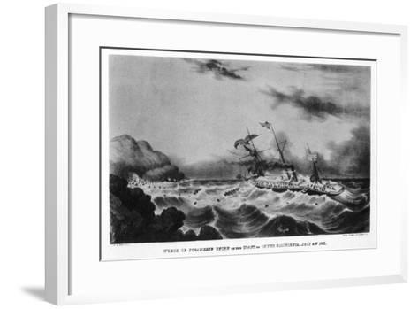 The Wreck of the Steamship 'Union' on the Coast of Lower California, 1851-John Henry Bufford-Framed Art Print